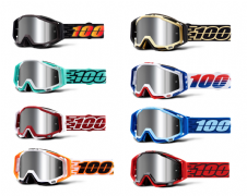 NEW 2020 Adult 100% Racecraft+ Goggles Mirror Lens Motocross Downhill Enduro